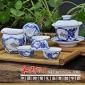 青花手绘高档陶瓷茶具中秋礼品茶具